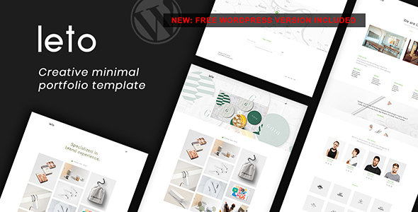 Leto - Creative Minimal Portfolio Template - Creative Site Templates