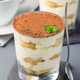 Traditional italian Tiramisu dessert cake in a glass, decorated - PhotoDune Item for Sale