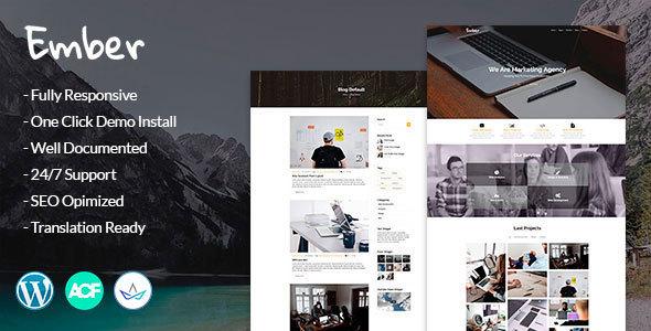 Ember - Digital Marketing Agency WordPress Theme - Marketing Corporate