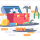 Toolkit with Repair Equipment - GraphicRiver Item for Sale
