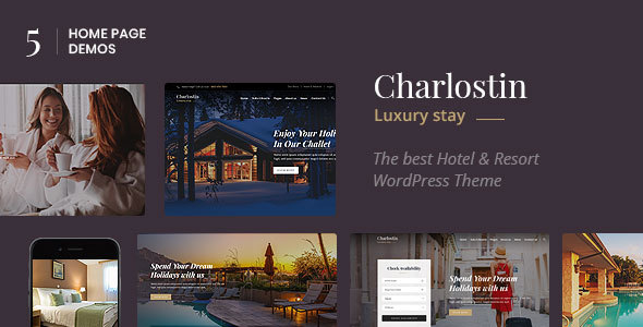 Charlostin - Hotel & Resort Booking WordPress Theme