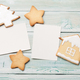 Free Download Christmas photo frames with gingerbread cookies Nulled