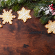 Free Download Christmas gingerbread cookies and fir tree Nulled