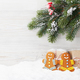 Free Download Christmas gift boxes, gingerbread cookies and fir tree Nulled