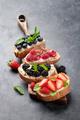 Brushetta or traditional spanish tapas with various berries - PhotoDune Item for Sale