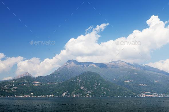 Sunny Lake Como landscape - Stock Photo - Images
