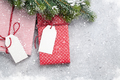 Christmas gift boxes and fir tree - PhotoDune Item for Sale