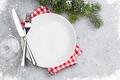 Christmas table setting with xmas tree - PhotoDune Item for Sale