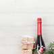 Free Download Christmas gift boxes and champagne bottle Nulled