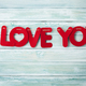 Free Download Valentines day greeting card with I love you words Nulled