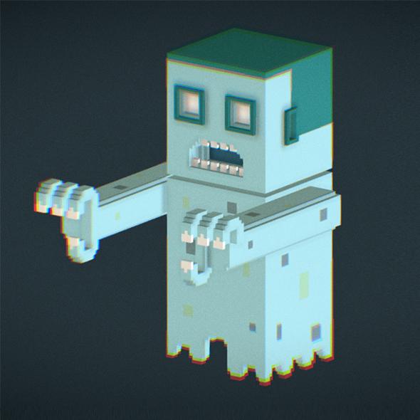 Voxel Ghost - 3DOcean Item for Sale