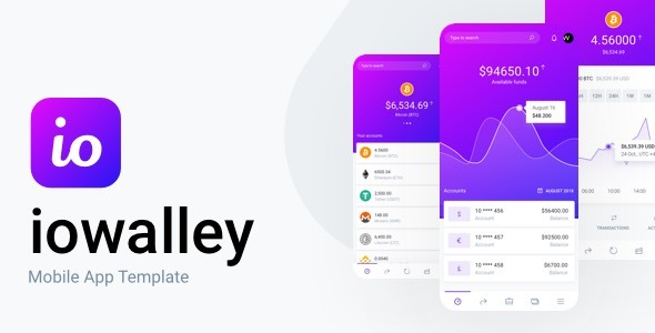 IOWalley - Mobile UI kit for Banking Apps & Crypto Wallets - Sketch Templates