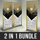 Free Download Corporate Roll Up Banner Bundle Nulled