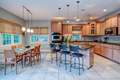 Open concept kitchen and dining room combination with windows - PhotoDune Item for Sale