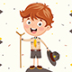 Free Download Vector Illustration Of A Scout Kid Nulled