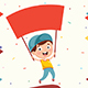 Free Download Vector Illustration Of Kid Holding Placard Nulled