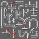 Pipe Vector Plumbing Pipeline or Piped Tubing - GraphicRiver Item for Sale
