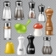 Salt Shaker Vector Design Pepper Bottle Glass - GraphicRiver Item for Sale