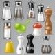 Salt Shaker Vector Design Pepper Bottle Glass - GraphicRiver Item for Sale
