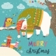 Vector Christmas Card with Sleeping Polar Bear - GraphicRiver Item for Sale