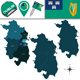 Map of Dublin with Counties - GraphicRiver Item for Sale