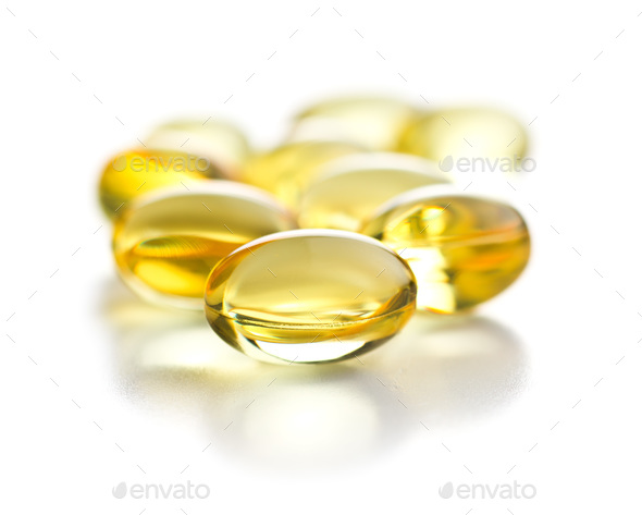 Omega 3 gel capsules. - Stock Photo - Images