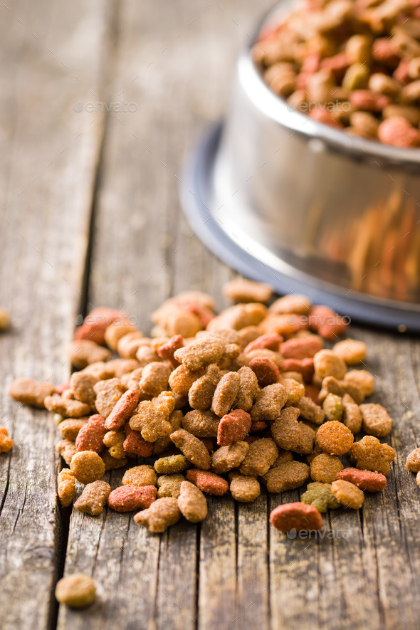 Dry pet food. - Stock Photo - Images