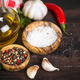 Free Download Ingredients for cooking on wooden background Nulled