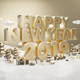 Happy New Year Gold 2019 - GraphicRiver Item for Sale