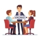 Job Interview with Hr Managements Man with Table - GraphicRiver Item for Sale