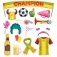Soccer Fan Set - GraphicRiver Item for Sale