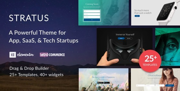 App, SaaS & Software Startup Tech Theme - Stratus - Software Technology