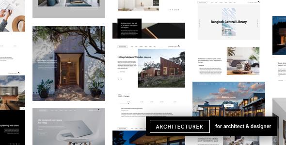 Architecturer | Interior Design & Architecture WordPress - Portfolio Creative