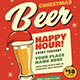 Retro Christmas Beer Party Flyer - GraphicRiver Item for Sale