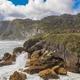 Punakaiki Pancake Rocks with blowholes in the Paparoa National P - PhotoDune Item for Sale