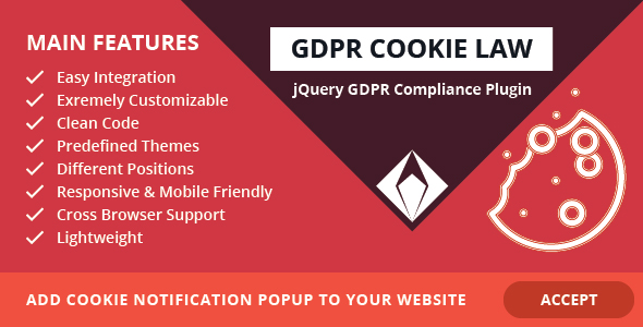 GDPR Cookie Law – jQuery GDPR Compliance Plugin - CodeCanyon Item for Sale