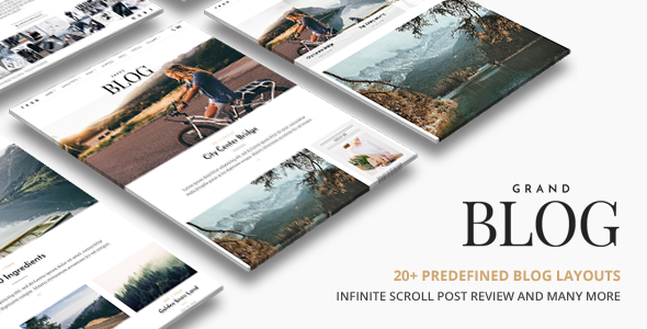 Grand Blog | Blog WordPress for Blog