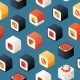 Free Download Vector Isometric Sushi Pattern or Background Nulled