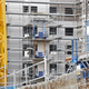 Free Download Building under construction. Crane machinery structure. Industry. Horizontal Nulled