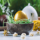 Golden Easter Egg In Wooden Nest - PhotoDune Item for Sale