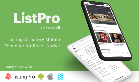 ListPro - Listing Directory React Native template - CodeCanyon Item for Sale