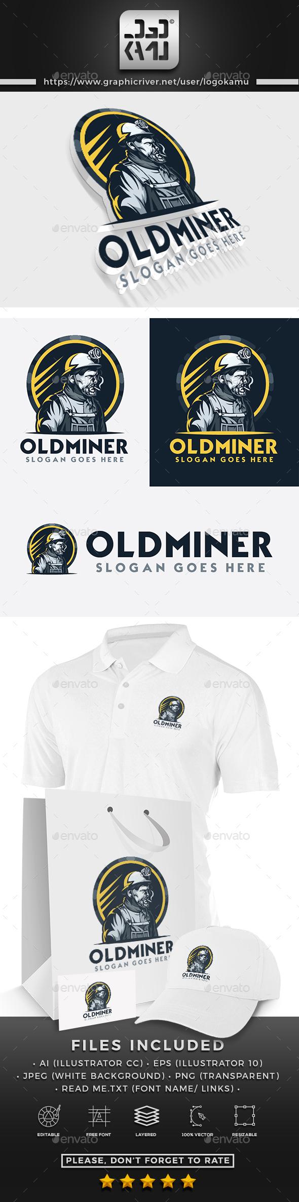 Old Miner Logo - Humans Logo Templates