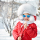 Free Download Portrait of cute little girl in winter, have fun Nulled