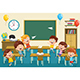 Free Download Vector Illustration Of Kids Classroom Nulled