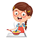 Free Download Vector Illustration Of Kid Cooking Meal Nulled