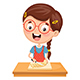 Free Download Vector Illustration Of Kid Preparing Meal Nulled