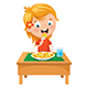 Free Download Vector Illustration Of Kid Eating Meal Nulled