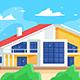 Cottage Against Blue Sky - GraphicRiver Item for Sale