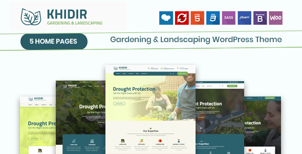 Khidir - Gardening & Landscaping WordPress Theme