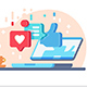 Internet Communication with Likes and Comments - GraphicRiver Item for Sale